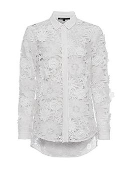 Manzoni Lace Long Sleeves Shirt
