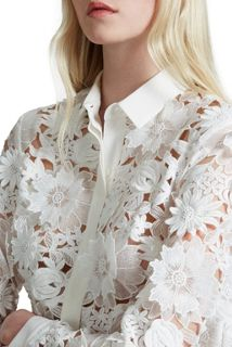 French Connection Manzoni Lace Long Sleeves Shirt