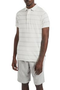 French Connection Wara Watercolour Striped Polo Shirt