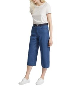 French Connection Wisteria Blue Denim Culottes