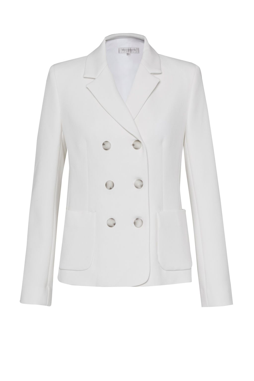 French Connection Sundae Suiting Double Breast Blazer, White