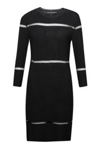 French Connection Danni Ladder Stitch Knitted Dress