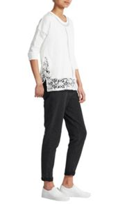 French Connection Noland Mesh Panelled Lace Top