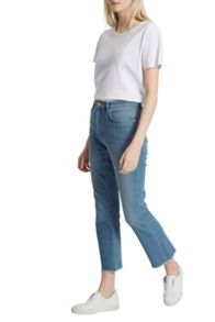 French Connection Ash Denim Cropped Kick Flare Jeans