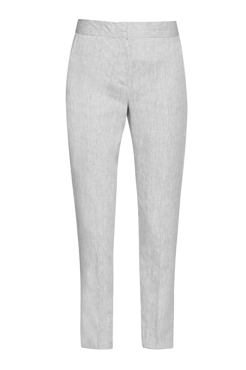 French Connection Summer Linen Trousers, Grey