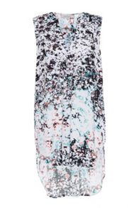 Great Plains Miquita Marble Printed Sleeveless Tunic