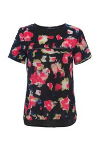 French Connection Bella Crepe Light Floral Top