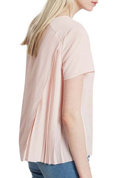 French Connection Classic Crepe Light Pleated Back Top