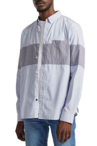French Connection Chest Panel Stripe Shirt