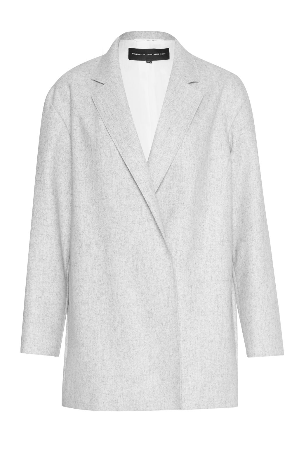 French Connection Platform Oversized Coat, Charcoal