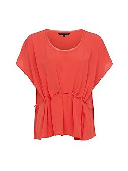 Classic Crepe Light Draw Waist Top