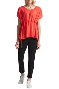 French Connection Classic Crepe Light Draw Waist Top