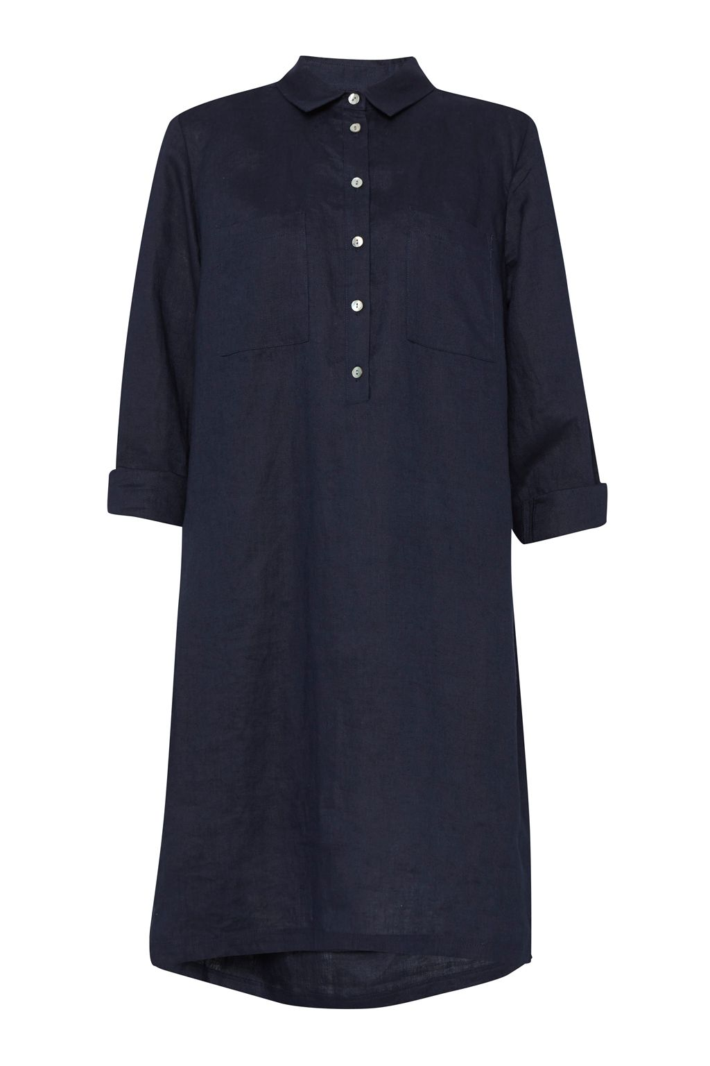 Great Plains Lara Linen Patch Pocket Tunic, Blue