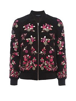 Gilliam Floral Embroidered Bomber