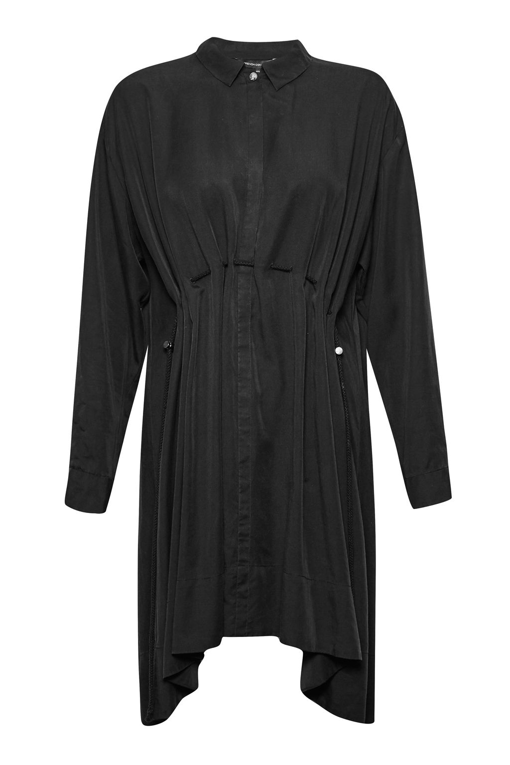French Connection Sunny Tencel Shirt Dress, Black
