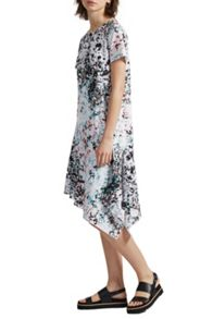Great Plains Miquita Marble Asymmetric Shift Dress