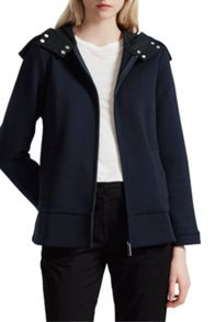 French Connection Blakelock Jersey Hooded Jacket