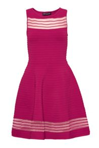 French Connection Tobey Crepe Knits Flared Dress