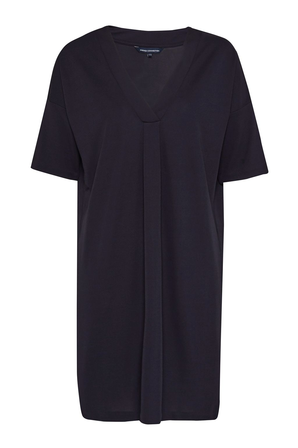 French Connection Bottero Drape V Neck Shift Dress, Blue