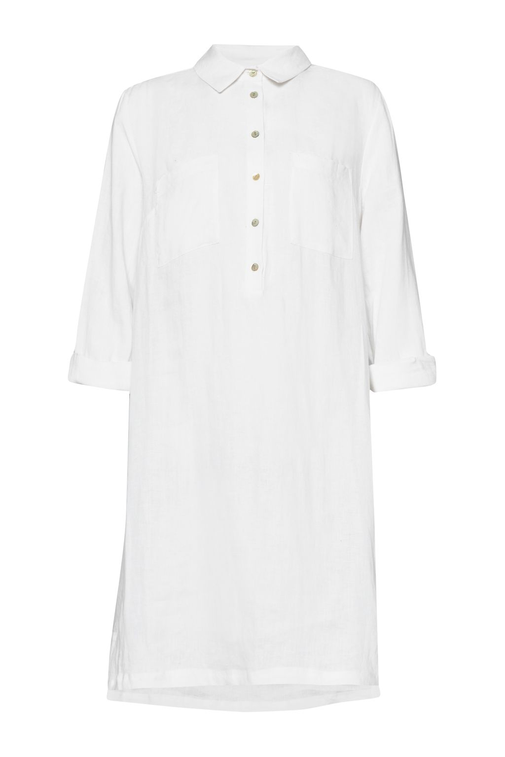 Great Plains Lara Linen Patch Pocket Tunic, White