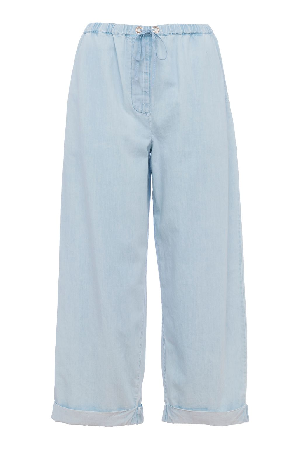 French Connection Salt Water Denim Culottes, Blue