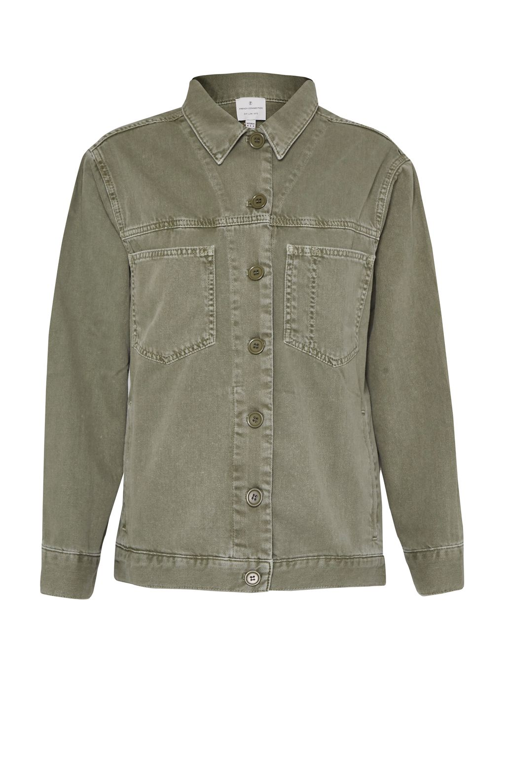 French Connection Perret Utility Cotton Jacket, Green