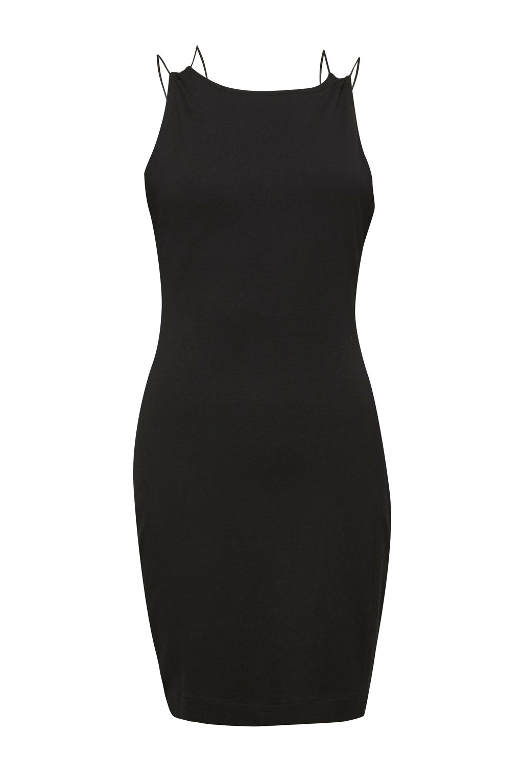 French Connection Kali Jersey Strappy Back Dress, Black