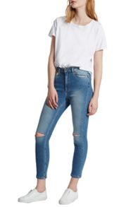 French Connection Ash Denim Embroidered Jeans
