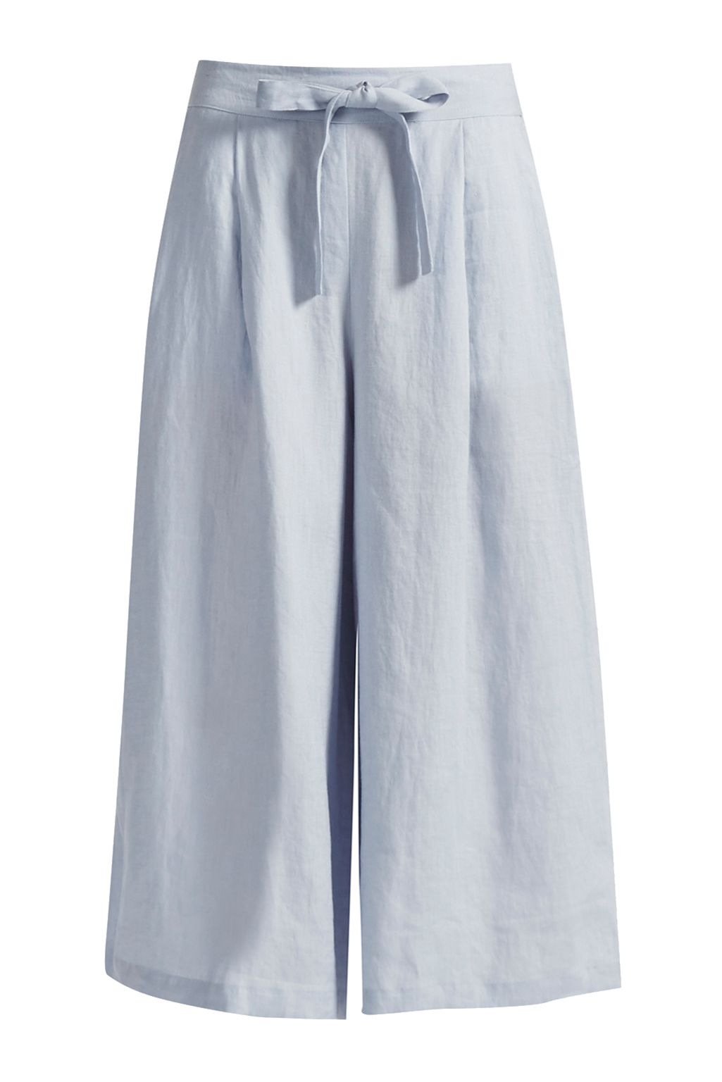 Great Plains Lindisfarne Linen Wide Leg Trousers, Blue