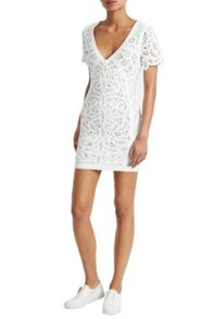 French Connection Mesi Macrame Lace Jersey Dress