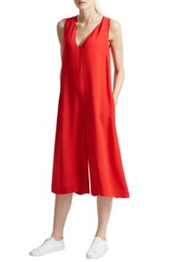 French Connection Essien Crepe V Neck Jumpsuit