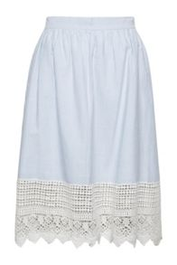 French Connection Nuru Schiffley High Waisted Lace Skirt
