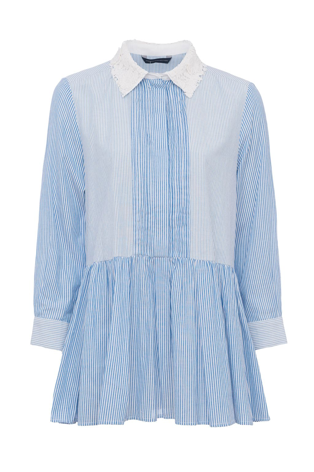 French Connection Nuru Schiffley Shirt, Blue