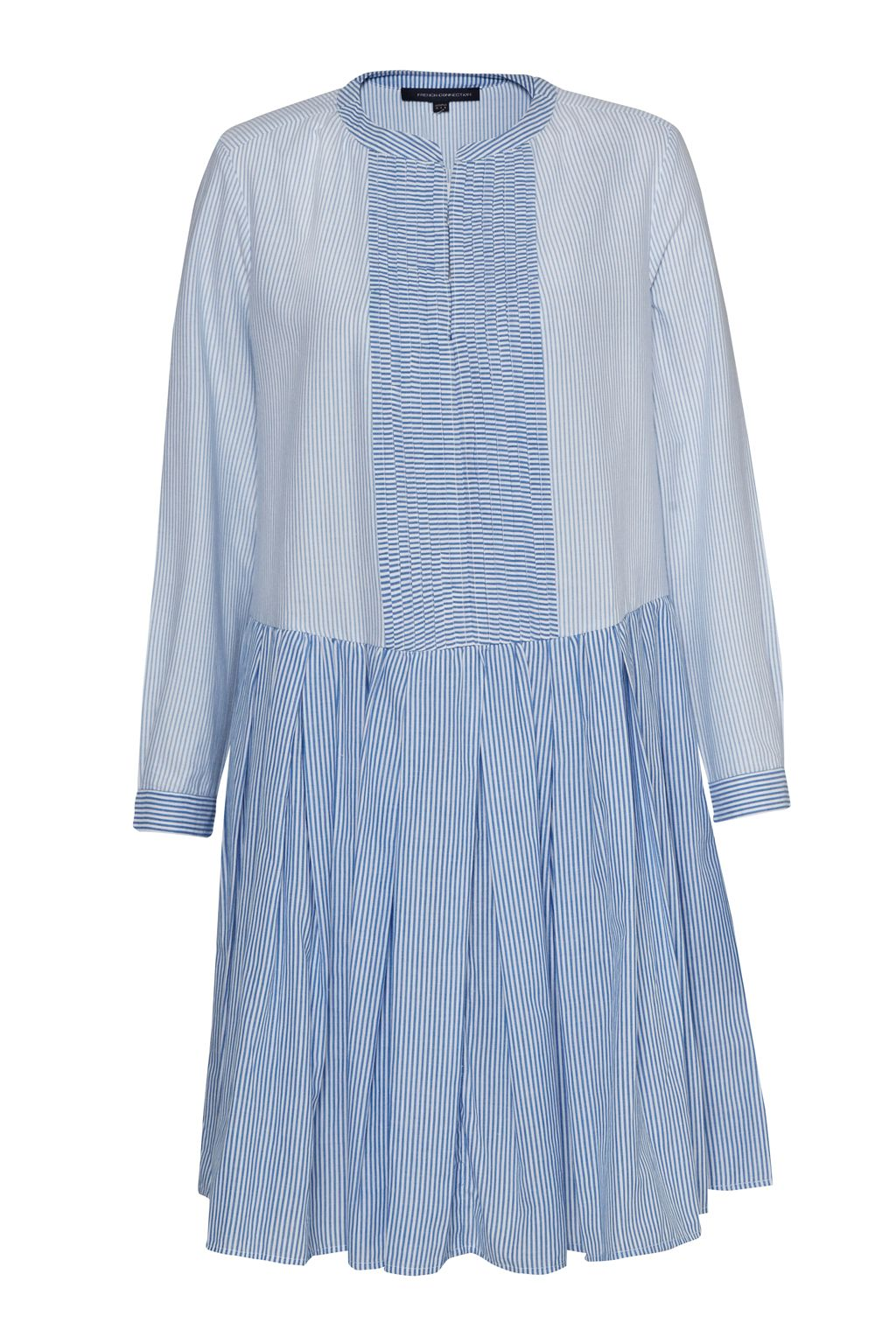 French Connection Nuru Schiffley Mix Striped Dress, Blue