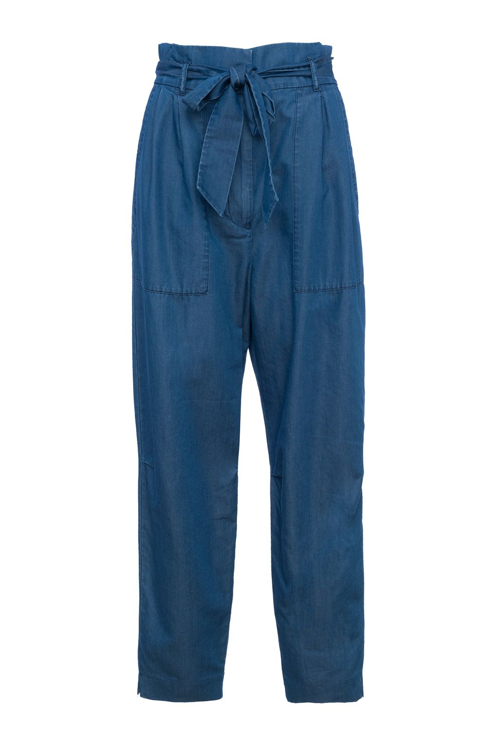 French Connection Ary Tencel Paperbag Waist Trousers, Indigo