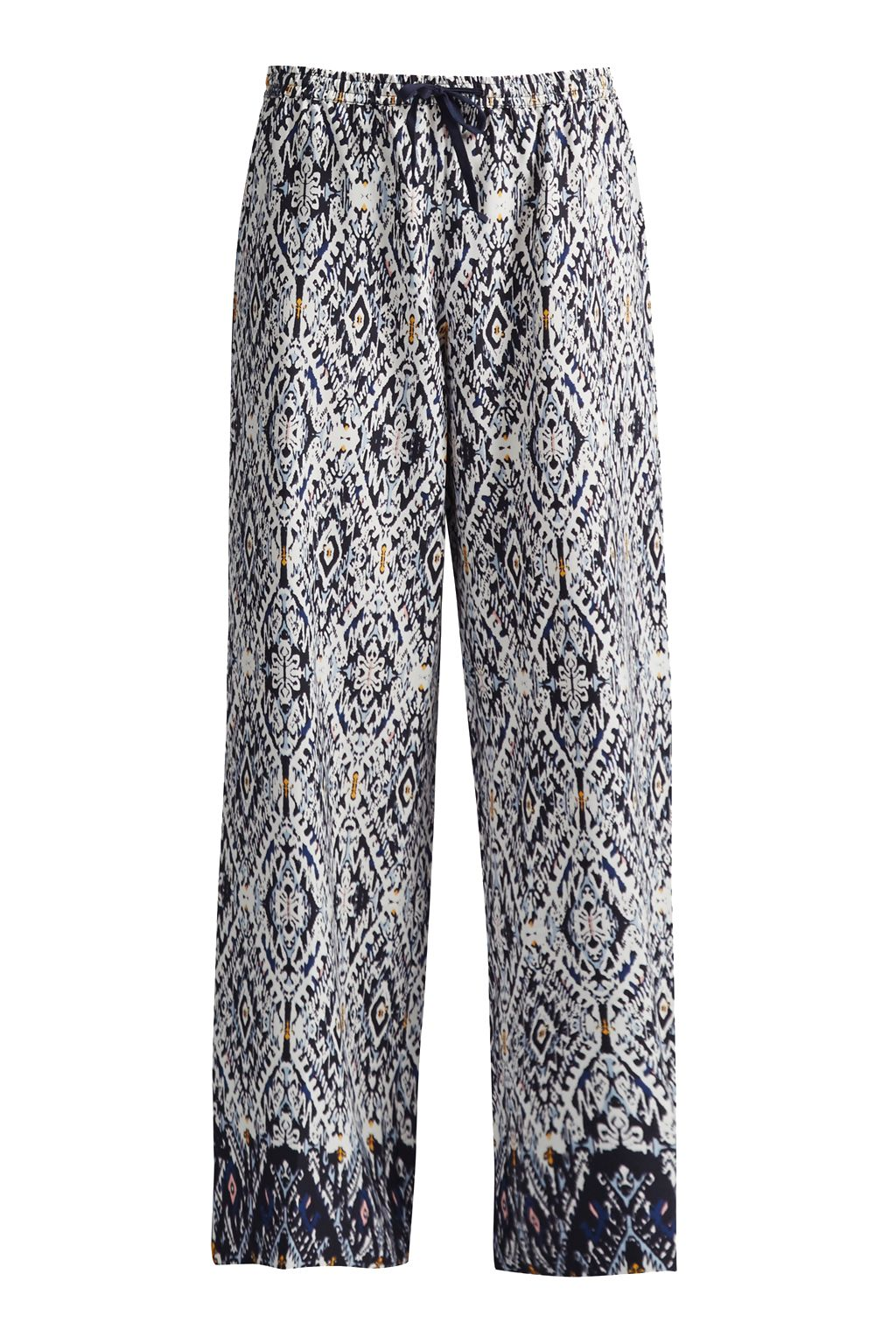 Great Plains Diamond Daze Drawcord Waist Trousers, Blue
