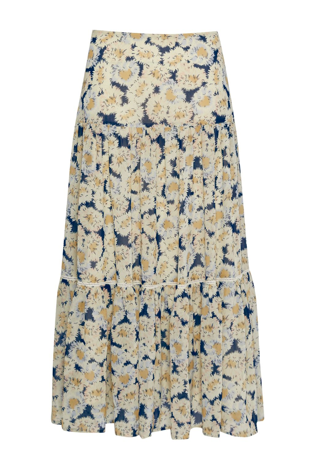 Great Plains Vintage Bloom Printed Skirt, Yellow