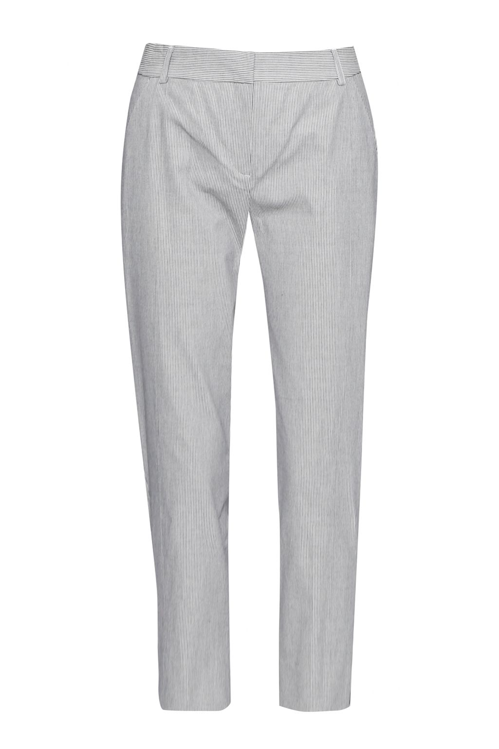 Great Plains Padstow Stripe Stretch Cigarette Trousers, Blue