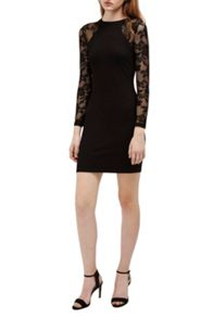 French Connection Tatlin Beau Jersey Lace Dress