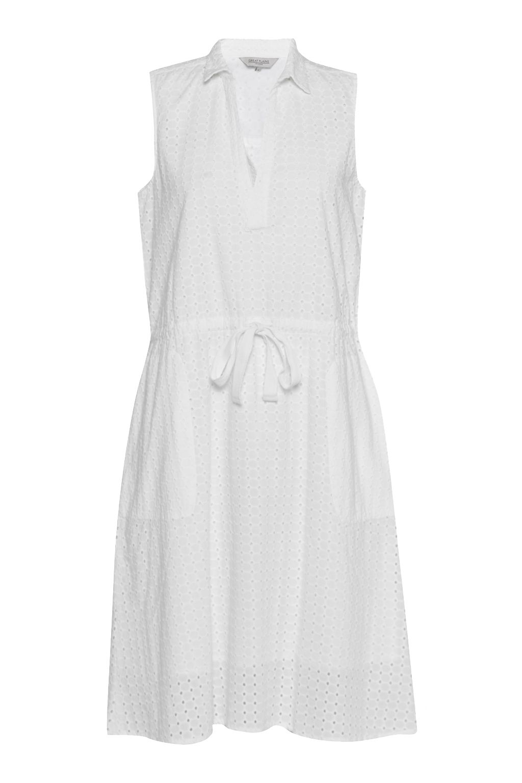 Great Plains Whitby Embroidered Shirt Dress, White