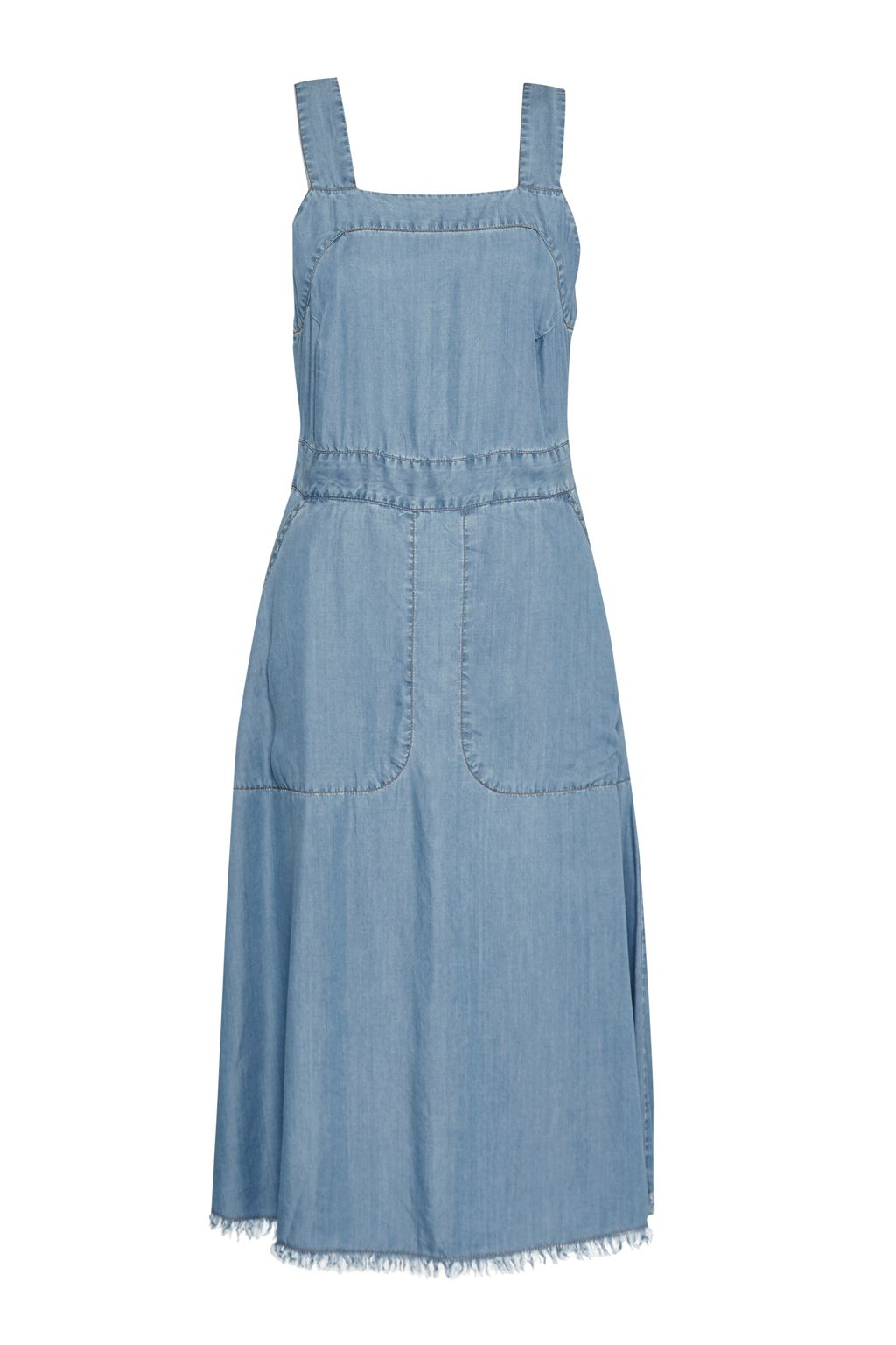 Great Plains Washed Wendy Pinafore Dress, Blue