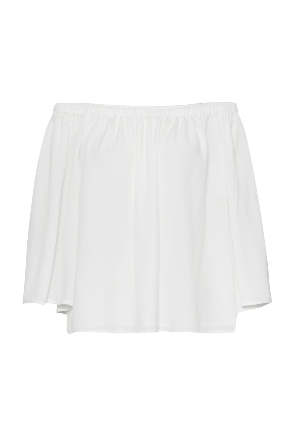 French Connection Summer Light Crepe Off The Shoulder Top, White