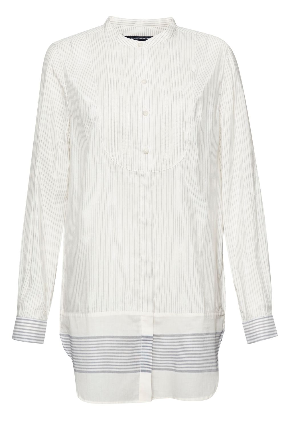French Connection Hasan Flex Striped Tunic Shirt, Cream