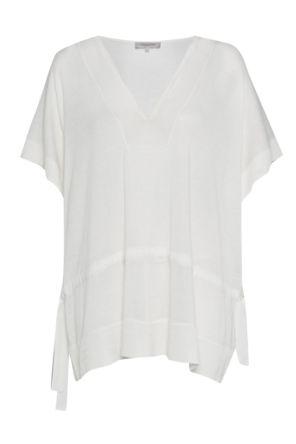 Great Plains Mabel Mix Drawstring Tunic Top, White