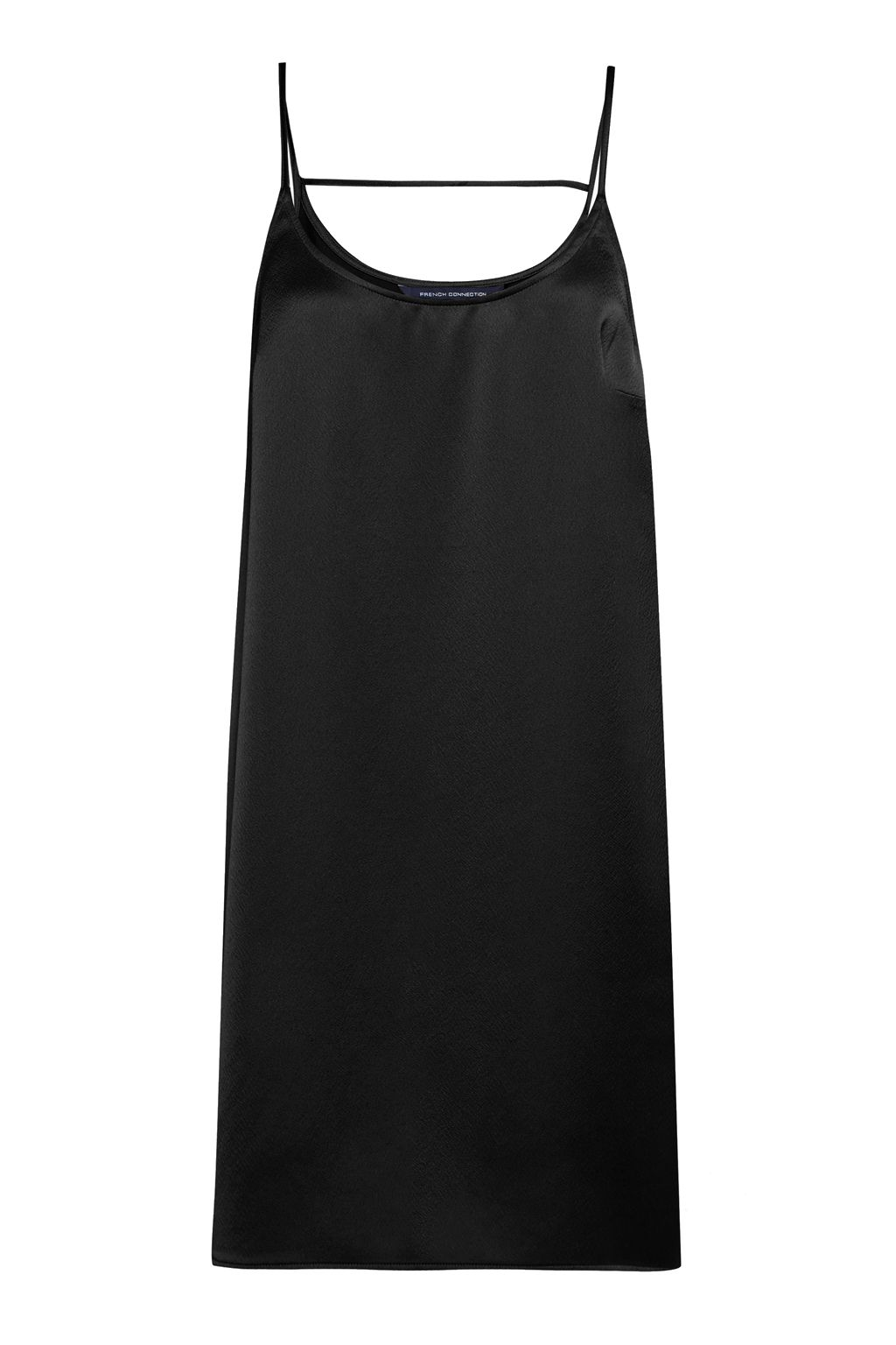 French Connection Sasha Satin Slip Dress, Black