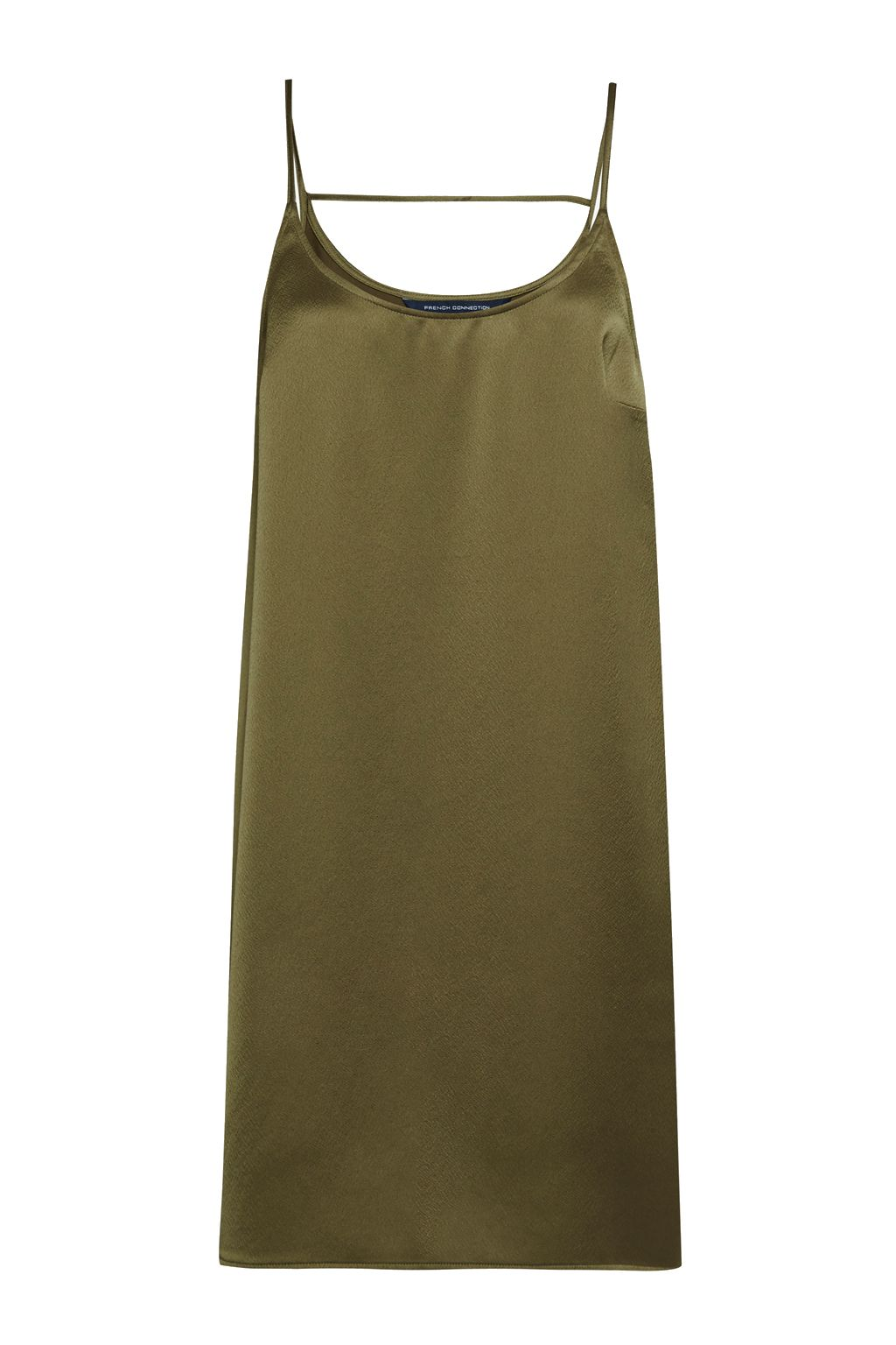 French Connection Sasha Satin Slip Dress, Green