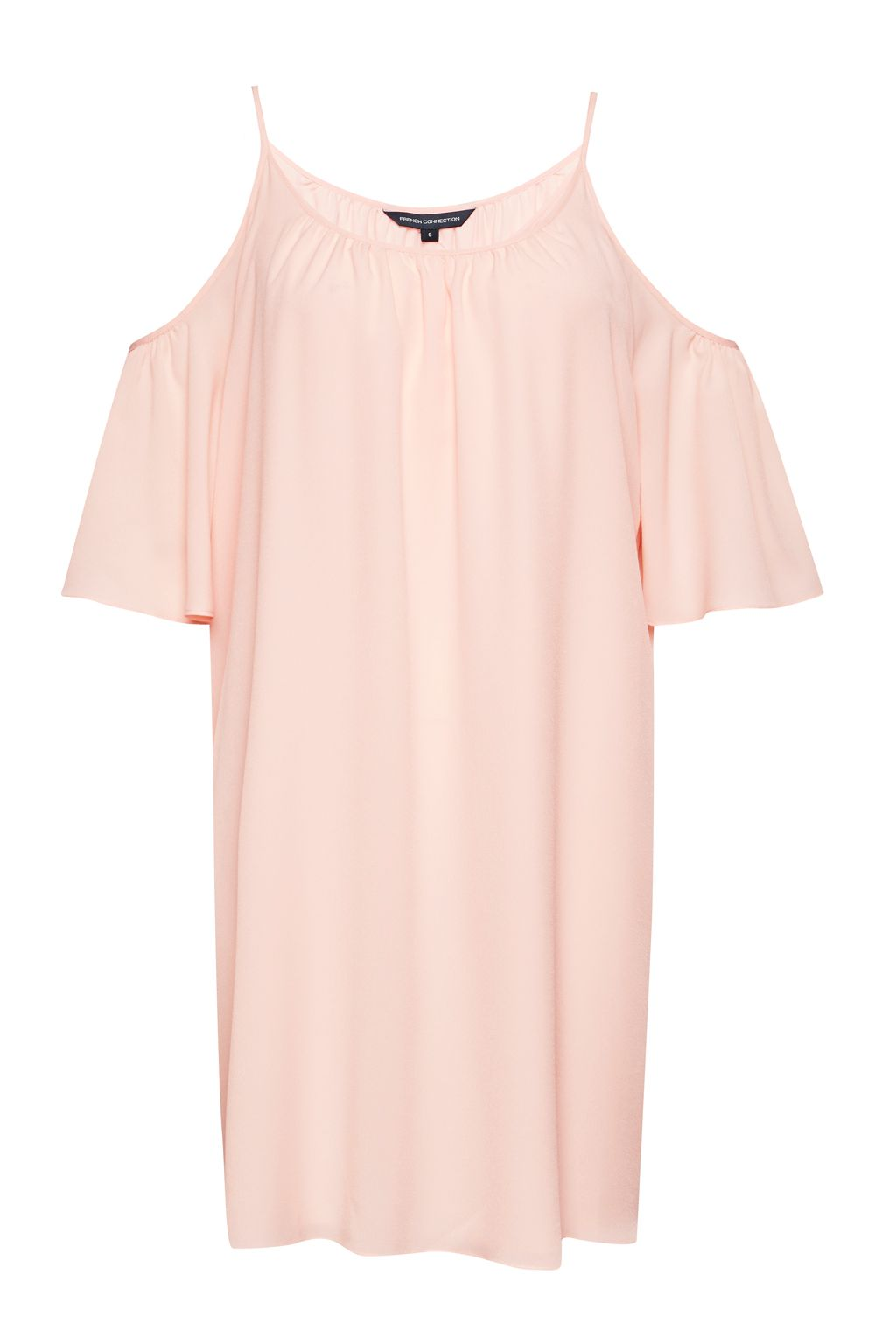 French Connection Crepe Light Cold Shoulder Dress, Pink