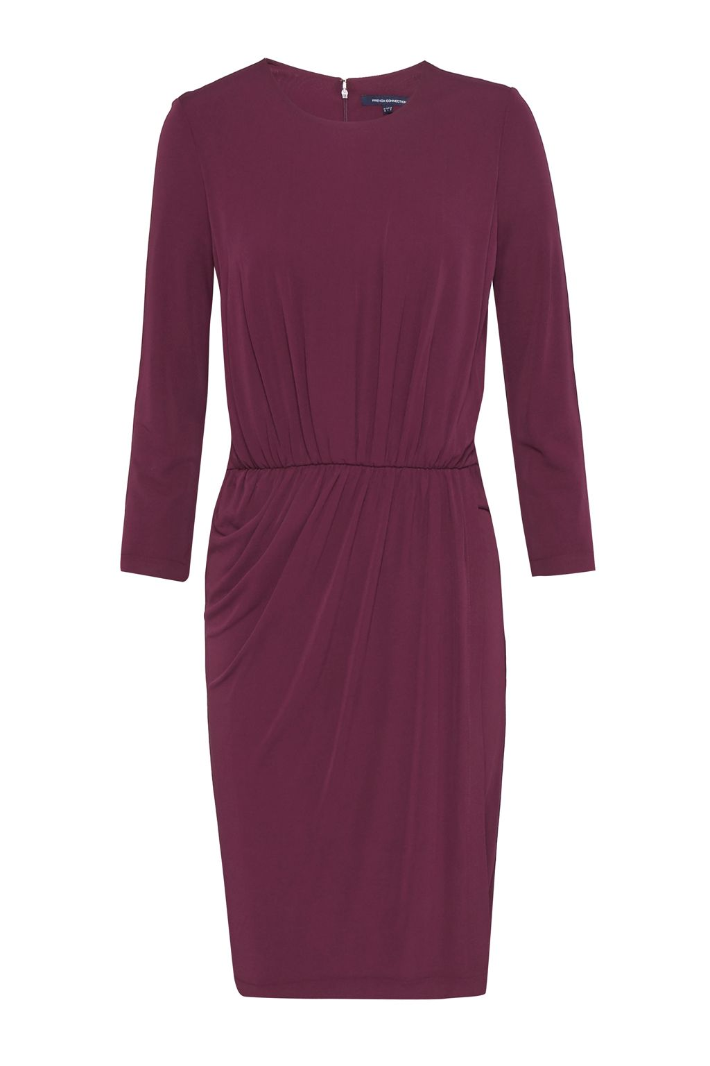 French Connection Elsa Drape Jersey Dress, Dark Purple