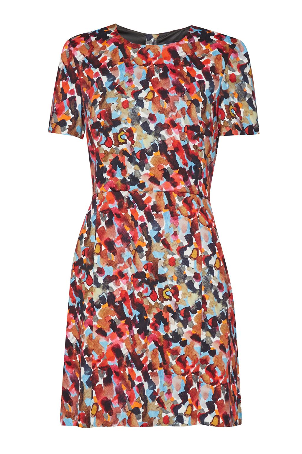 French Connection Eleanor Printed Stretch Dress, Multi-Coloured