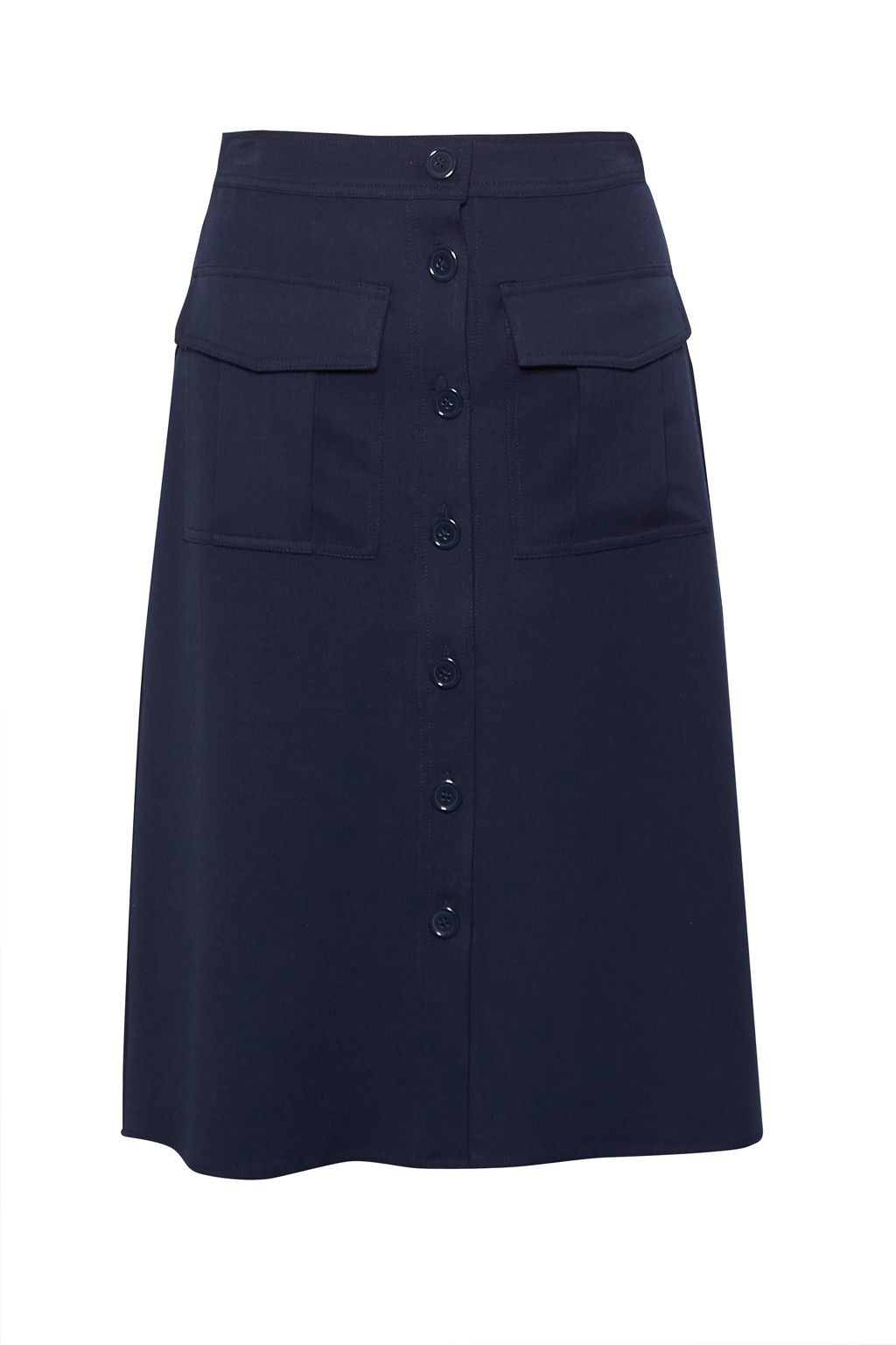 Great Plains Freya Brushed Suiting Skirt, Blue